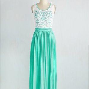 Vine Your Niche Soie Blu Dress - Modcloth